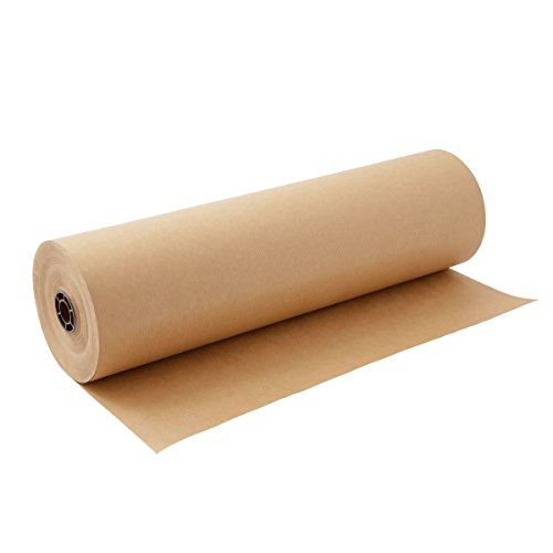 Kraft Paper Roll 30'' X 1800'' (150ft) Brown Mega Roll - Made in Usa 100% Natural Recycled Material - Perfect for Packing, Wrapping, Butcher, Craft, Postal, Shipping, Dunnage and Parcel ()