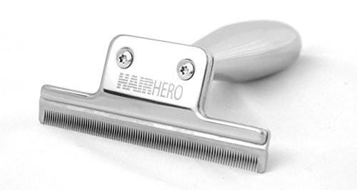 Hair Hero Dog and Cat Brush, Stainless Steel Deshedding Tool to Reduce Shedding in Short and Long Hair Dogs and Cats, a Luxury pet brush, works great on Horses too.