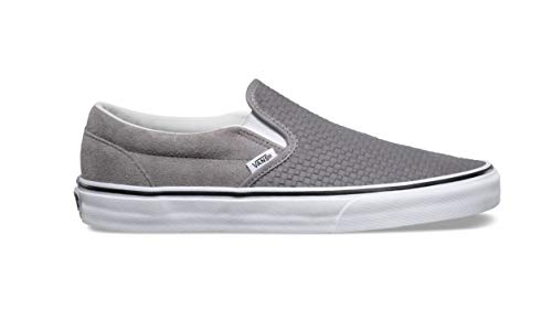 Pictures of Vans Men's Embossed Suede Slip-On Frost Gray True White 5