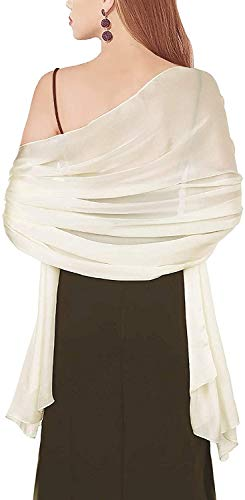 Silky Pashmina Scarves Plain Pure Color Shawl