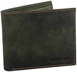 Wallet man CARRERA green leather with coin purse and flap A5764
