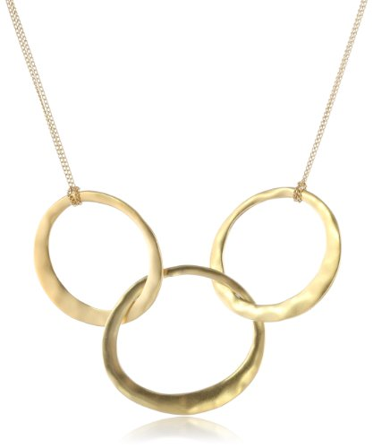 Kenneth Cole Circle Necklace (Kenneth Cole New York Gold-Tone 3-Circle Necklace)