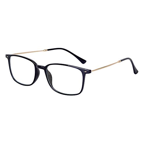 Blue Light Filter Reading Glasses 1.0 Mens Womens Super Light Frame (13g) + Case
