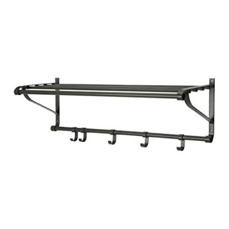 Ikea Portis - Sombrero Estante, Negro - 90 cm: Amazon.es: Hogar