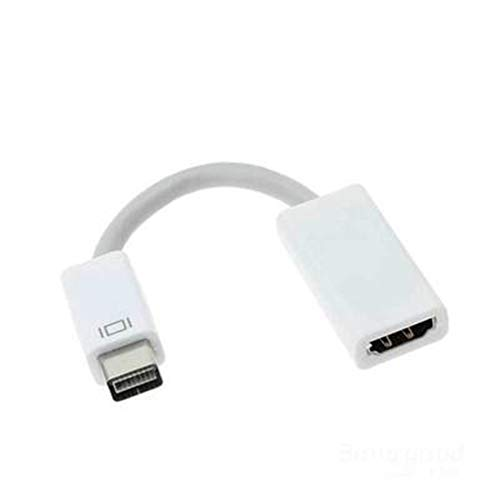 MD03 Mini DVI Male to HDMI Female Cable Monitor Video Adapter Converter Cable Cord 1080P for Apple Mac Macbook
