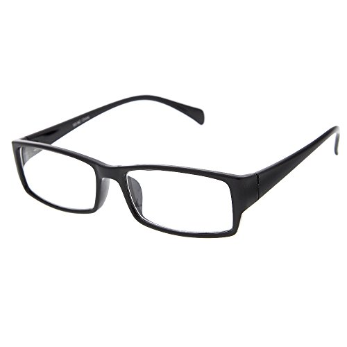 grinderPUNCH Plastic Rim Clear Lens Plano Glasses for Men and - Plastic Glasses Rim Clear