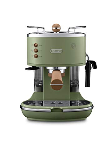 DeLonghi ECOV 311.GR Cafetera automática independiente, 1100 W, 1,4 L, 15 bares, acero inoxidable, verde