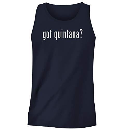 One Legging it Around got Quintana? - Men's Funny Soft Adult Tank Top, Navy, Small