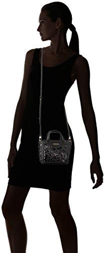 Tous Capazo Mini Kaos Shock de Lona, Bolso Bandolera para Mujer, 7x12x15 cm (W x H x L) Negro (Black)
