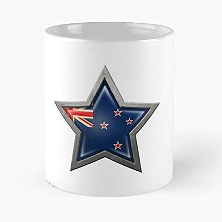 Nueva orgullosa de la bandera de la estrella de Zelanda Kiwi Pride Best 11oz taza de café de cerámica personalizar