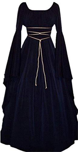 Robe Gothique Vintage YOGLY Robe Robe Longue Retro Manche Renaissance Femme Mdivale Bleu de Dguisement Costume Soire qwH4RgvH