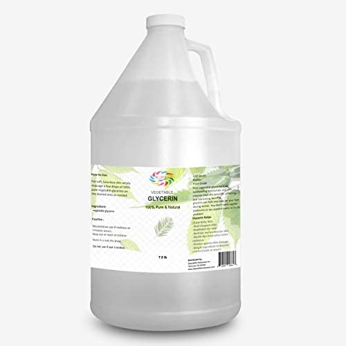 Vegetable Food Grage Glycerin Glicerina Vegetariana USP, Pure Natural, Best for Hair Skin, Heel Cracks, Moisturizer Softner 10 LB