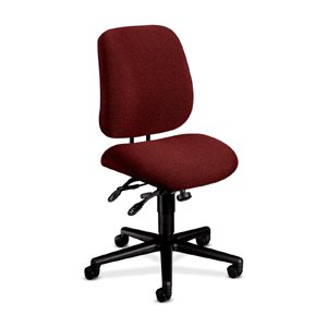 HON 7707AB62T 7700 Series Swivel and Tilt Task Chair, Asynchronous Control, Burgundy ()
