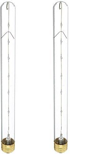 Bulbrite 40T8C 40-Watt Incandescent T8 Tubular Light Clear 2-Pack
