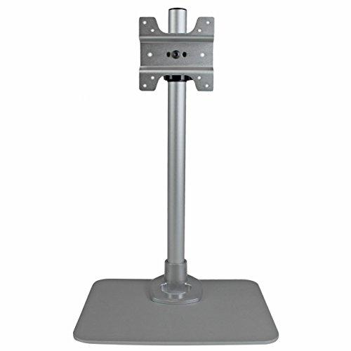 (StarTech.com Single Monitor Stand - Silver - VESA Mount - Monitor Arm Desk Stand - Computer Monitor Stand (ARMPIVSTND))