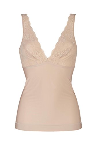Charnos Firming Camisole With Lace Almond