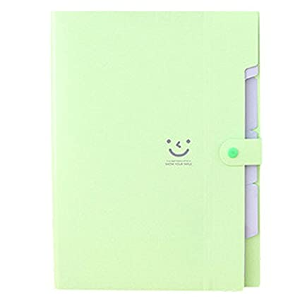 TOOGOO(R) Kawaii FoldersStationery Carpeta File Folder 5layers Archivadores Rings A4 Document Bag Office