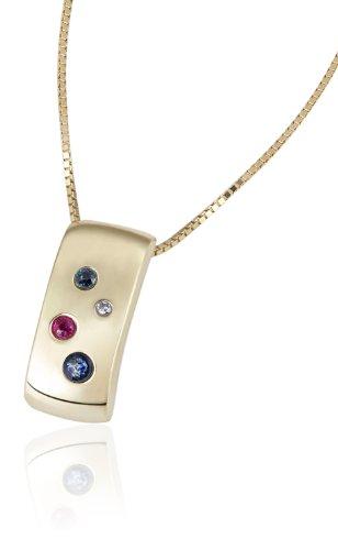 Goldmaid - Pr C2310GG - Collier Femme - Or Jaune 9 Cts 375/1000 0.9 Gr - Saphir