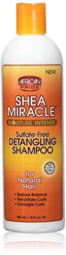 African Pride Shea Butter Miracle Detangling Shampoo, 12 Ounce