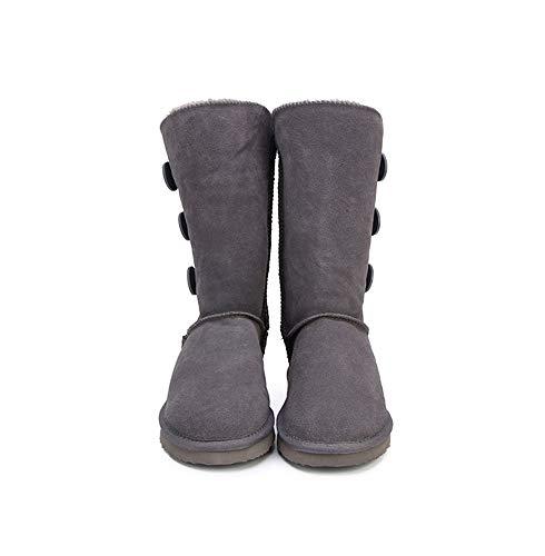 Antidérapant Femmes De Neige Cuir Boots Ubeauty En gris Ug Imperméables Bottes Bottine SHngAxwY