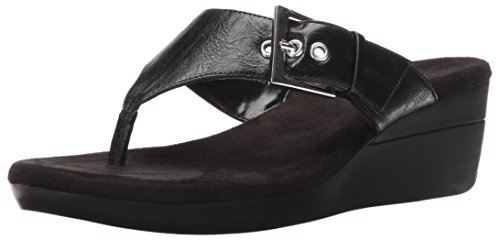 ower Wedge Sandal, Black, 6 M US ()