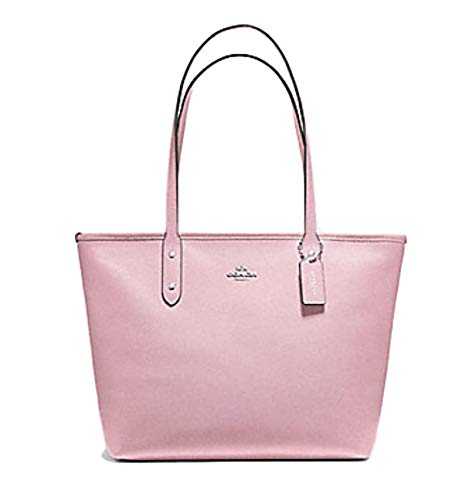 Coach City Zip Tote Shoulder Bag F58846 (SV/CARNATION)