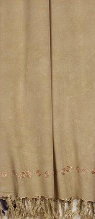 "Embroidered Sarong - Tan - ""Slightly Less Than Perfect"""
