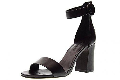Hqx8nwv5 Zapatos Sandalias De Negro Vergre' Tacón Cris Mujer H6106x vwnmN80O