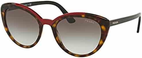 dc4df42b46 Prada PR02VS 3200A7 Havana Red PR02VS Cats Eyes Sunglasses Lens Category 2  Si