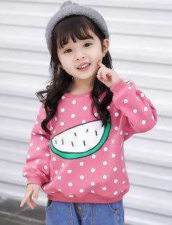ZIXUN Little girl top long sleeve young childrens clothing T-shirt dot watermelon decoration