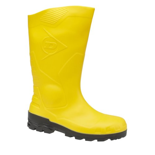 Rubber Stahlkappe Dunlop Boots mit und Long Bootees Unlined Sicherheitsstiefel H142011 amp; Men's Boots Stahlsohle Yellow S5 Shaft vzBwzXx