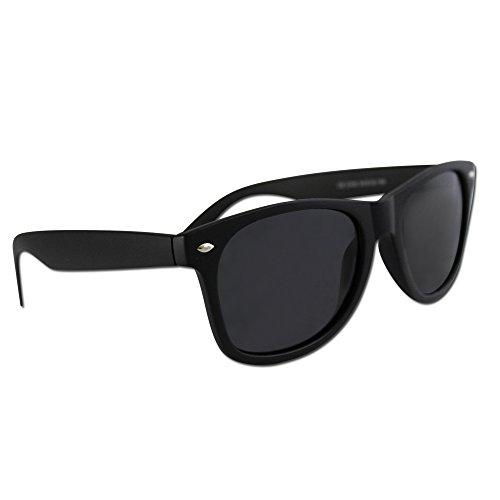 Image of Polarized Wayfarer Sunglasses by Eye Love, Lightweight, 100% UV Protection (Matte Black)