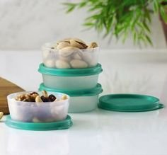 new-tupperware-mini-snack-cups-w-mint-green-seals-2-oz-set-of-4