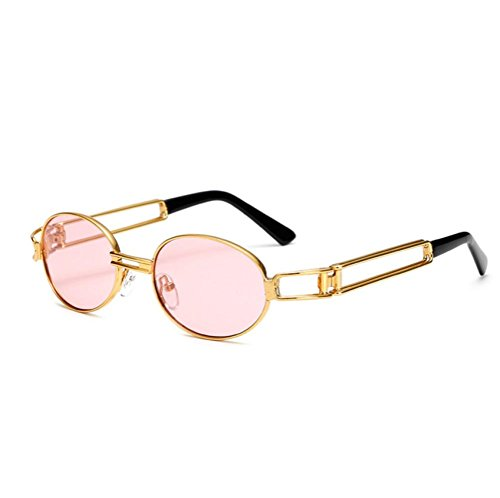 Honhui Hot Vintage Mirrored Eyewear Sports Sunglasses For Men And Women - Shape Face Best Glasses For Oval