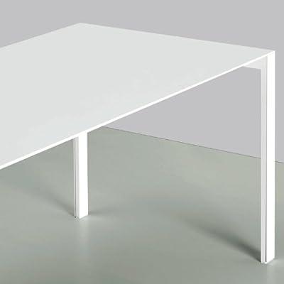 Kristalia de Thin K Aluminio mesa extensible, lacada en blanco ...