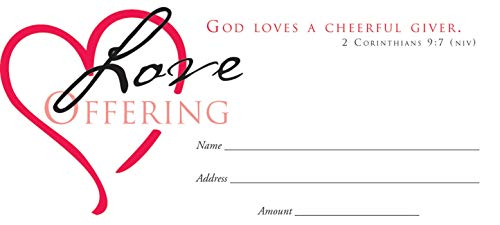 Love Envelope - Offering Env-Love Offering (Heart) (Package of 100)