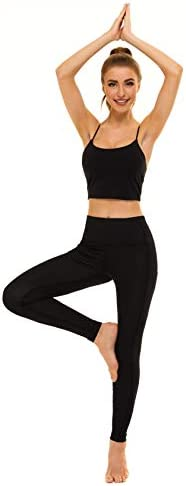 Relexioga Women's High Waisted Yoga Pants Naked Feeling Workout Leggings with Pockets 4