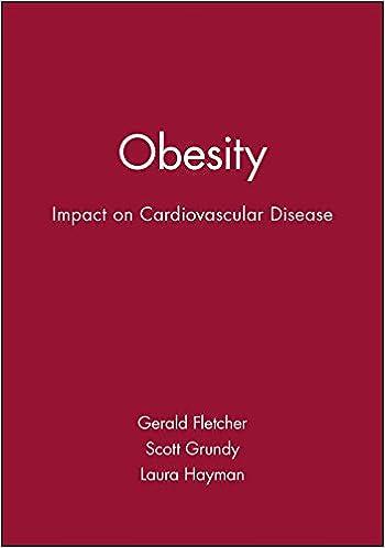 Obesity: Impact on Cardiovascular Disease (American Heart Association Monograph Series)