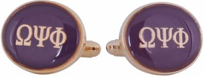 Omega Psi Phi Cufflinks (Purple with Gold ()