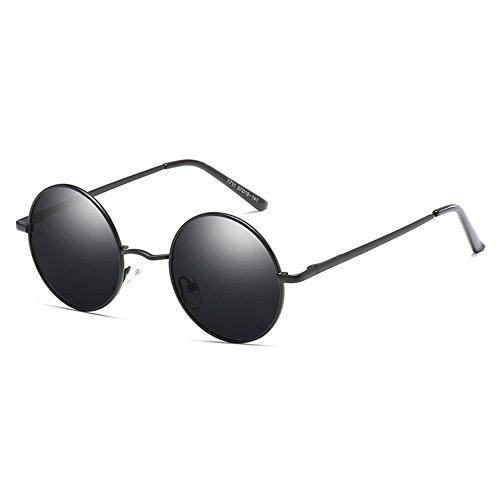 Sun Gafas Polarizadas Blackboxgray Metal Retro Moda Unisex Gafas xAwIAp