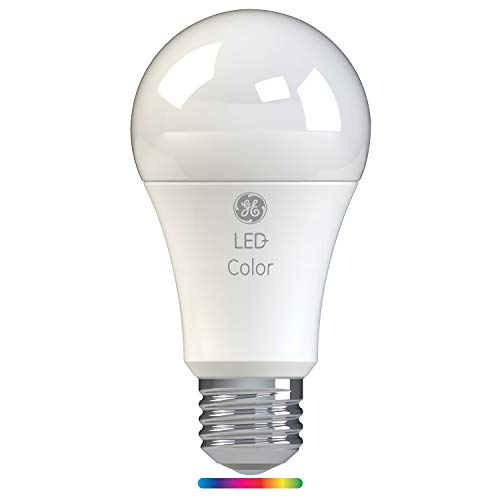 GE Lighting LED+ Color A21 60 Watt Light Bulb Replacement with Remote Control, Link up to 10 Units, Full Spectrum