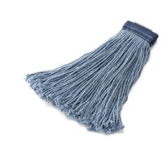 RCPF558BLU - Non-launderable Cotton/synth Cut-end Mop Heads, Cotton/synthetic, 24 Oz, Blue by Rubbermaid
