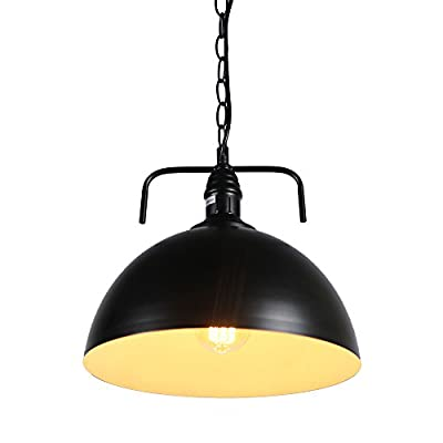 MY CANARY Industrial Vintage Hanging Pendant Light, Metal Elegant Modern Shade Ceiling Chandelier Lamp with Chain, Barn Overhead Light Fixtures Lighting