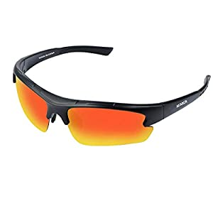 AFARER polarized sports sunglasses for mens womens fishing driving running hiking baseball biking cycling sunglasses eyewear TR3