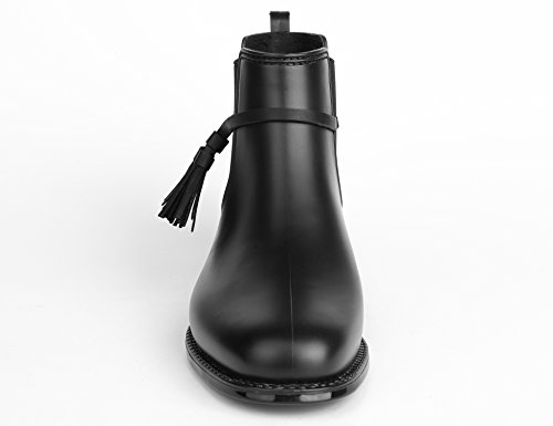 Agua Botas con la Mujer Brillante para Negro Antideslizante de MaxMuxun Suela pfq1aw