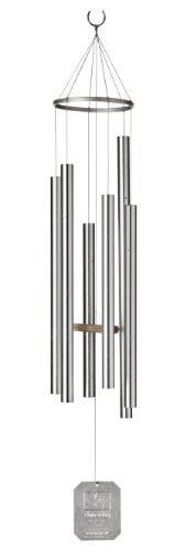 Grace Note Chimes 6S 36-Inch Stardust Wind Chimes, Small, Silver