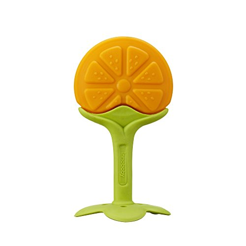 Innobaby Original Teethin Smart EZ Grip Fruit Teether and Sensory Toy for Babies and Toddlers in Citrus. BPA Free Teether