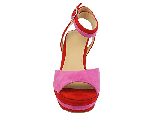 Guess Women's Fashion Sandals Fuxia-rosso Q9rmmiY8