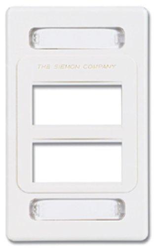 MX-FP-S-06-02 - Siemon 6-Port Single Gang Faceplate, White, Pack of 4
