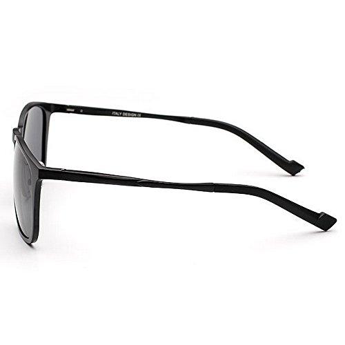 UV designer de qualité en soleil de nuances lunettes et soleil en cadeau haute Lunettes des hommes p légers voyage la de nouveauté de pour polarisées fête cadre aluminium conduite Noir magnésium Protection W5HvqHI